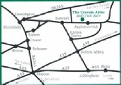 Map to the Craven Arms
